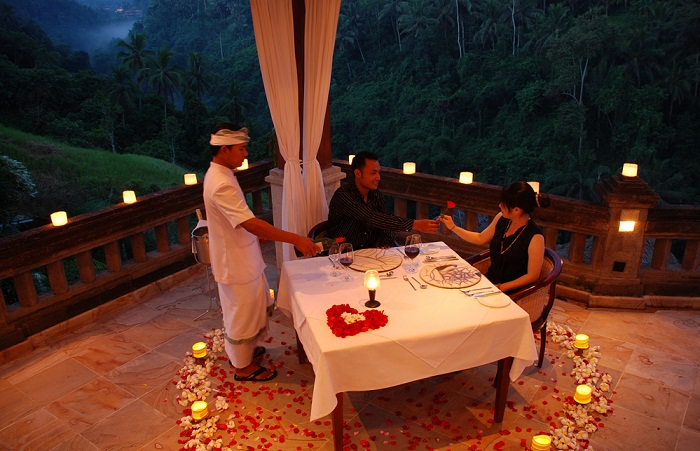 Romantic valentines day dinner